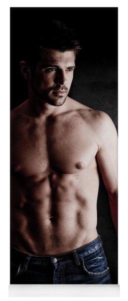 Muscular Handsome Man  Yoga Mat