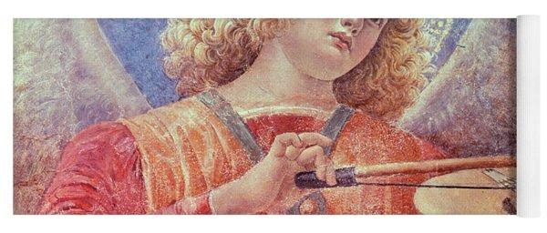 Musical Angel With Violin Yoga Mat