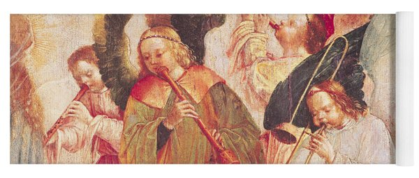 Musical Angels, Detail From The Assumption Of The Virgin Yoga Mat