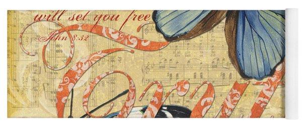 Musical Butterflies 3 Yoga Mat