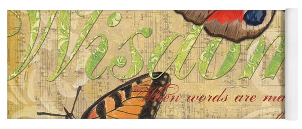 Musical Butterflies 4 Yoga Mat
