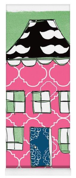 Mustache House Yoga Mat