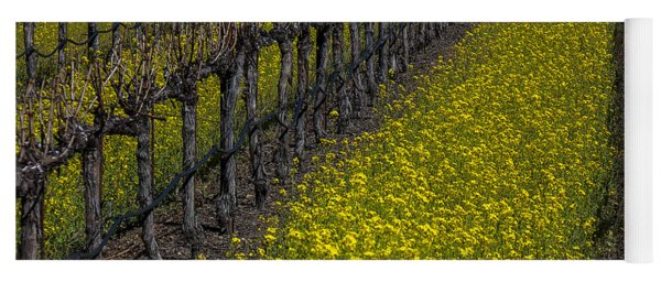 Mustrad Grass In The Vineyards Yoga Mat