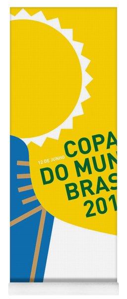 My 2014 World Cup Soccer Brazil - Rio Minimal Poster Yoga Mat