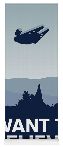 My I Want To Believe Minimal Poster-millennium Falcon Yoga Mat
