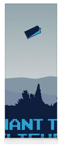 My I Want To Believe Minimal Poster- Tardis Yoga Mat