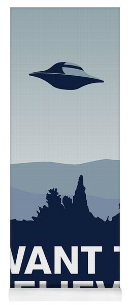 My I Want To Believe Minimal Poster-xfiles Yoga Mat