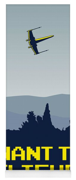 My I Want To Believe Minimal Poster- Xwing Yoga Mat