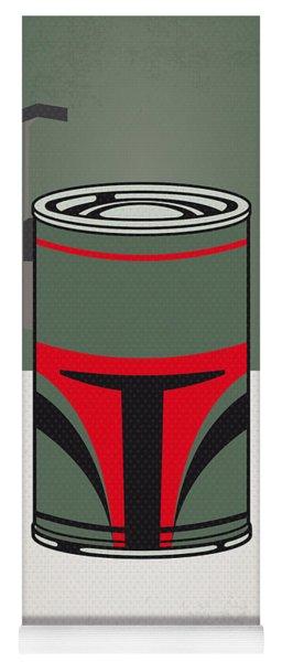 My Star Warhols Boba Fett Minimal Can Poster Yoga Mat