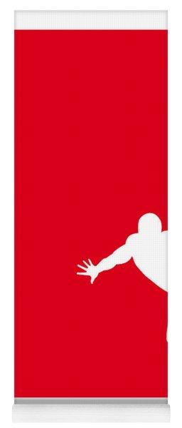 My Superhero 04 Spider Red Minimal Poster Yoga Mat