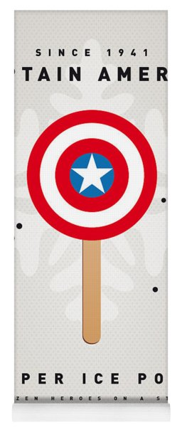 My Superhero Ice Pop - Captain America Yoga Mat