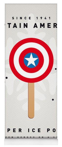 My Superhero Ice Pop - Captain America Yoga Mat