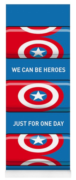 My Superhero Pills - Captain America Yoga Mat