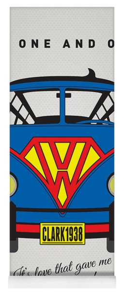 My Superhero-vw-t1-superman Yoga Mat