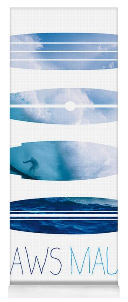 My Surfspots Poster-1-jaws-maui Yoga Mat
