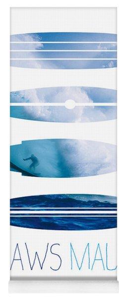 My Surfspots Poster-1-jaws-maui Yoga Mat