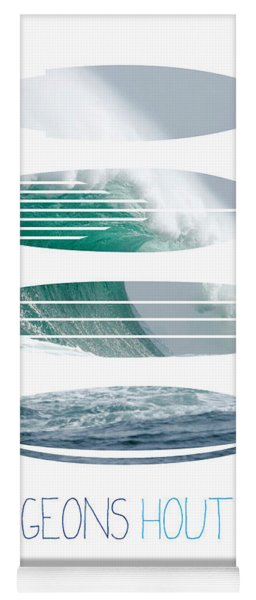 My Surfspots Poster-4-dungeons-cape-town-south-africa Yoga Mat