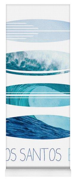 My Surfspots Poster-6-todos-santos-baja Yoga Mat