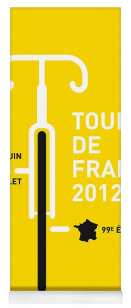 My Tour De France 2012 Minimal Poster Yoga Mat
