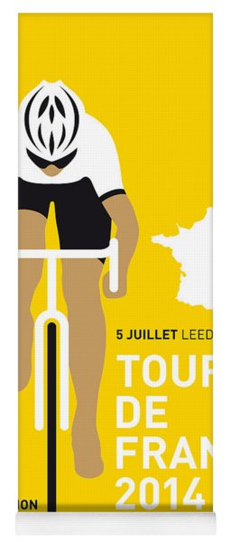 My Tour De France Minimal Poster 2014 Yoga Mat