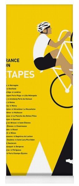 My Tour De France Minimal Poster 2014-etapes Yoga Mat