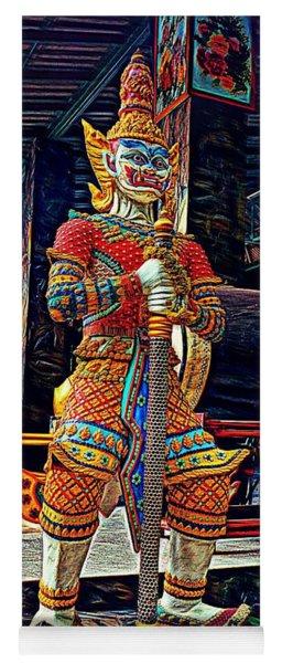 Mythical Thai Warrior Yoga Mat