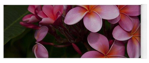 Na Lei Pua Melia O Wailua - Pink Tropical Plumeria Hawaii Yoga Mat