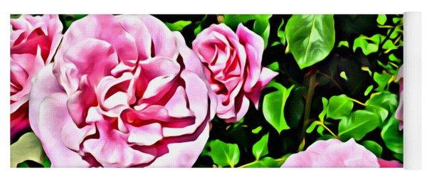 Nana's Roses Yoga Mat