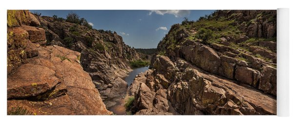 Narrows Canyon In The Wichita Mountains Yoga Mat