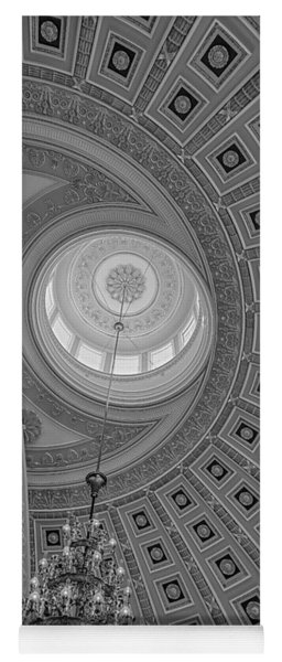 National Statuary Rotunda Bw Yoga Mat