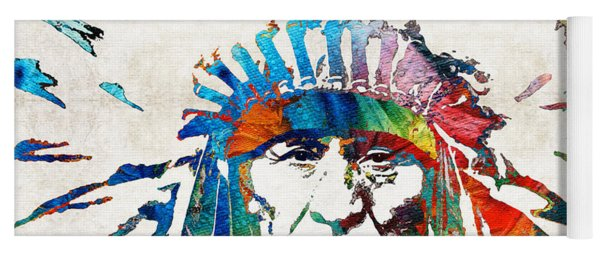 Native American Art - Chief - By Sharon Cummings Yoga Mat