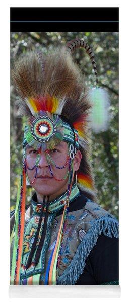 Native American Portrait Yoga Mat