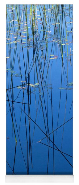 Nature's Abstract In Blue 1 Yoga Mat