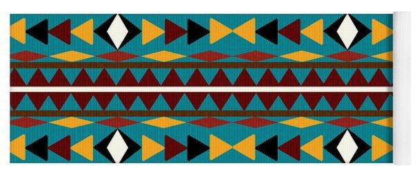 Navajo Teal Pattern Yoga Mat