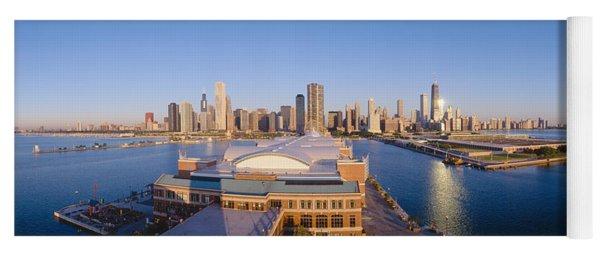 Navy Pier, Chicago, Morning, Illinois Yoga Mat