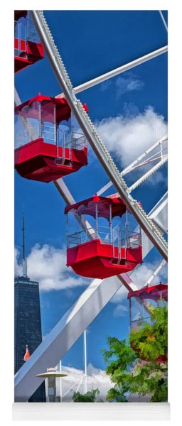 Chicago Navy Pier Ferris Wheel Yoga Mat
