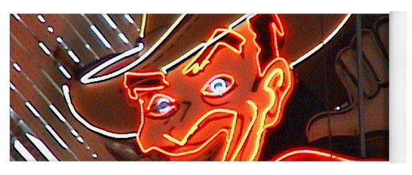 Neon Cowboy Of  Las Vegas Yoga Mat