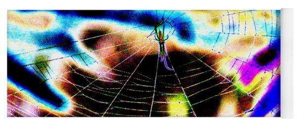Neon Spider Yoga Mat