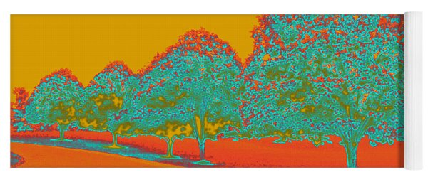 Neon Trees In The Fall Yoga Mat