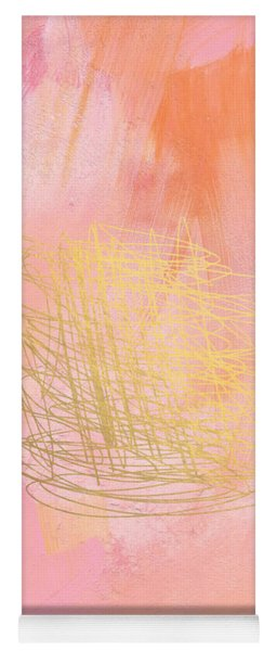 Nest- Pink And Gold Abstract Art Yoga Mat