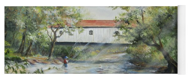 New Jersey's Last Covered Bridge Yoga Mat