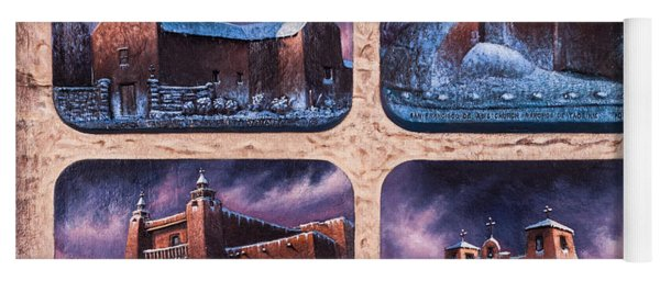New Mexico Churches In Snow Yoga Mat