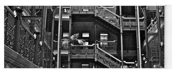 New Photographic Art Print For Sale Bradbury Building Downtown La Yoga Mat
