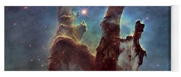 New Pillars Of Creation Hd Square Yoga Mat