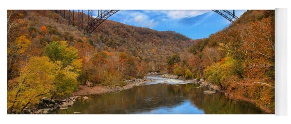 New River Gorge Reflections Yoga Mat