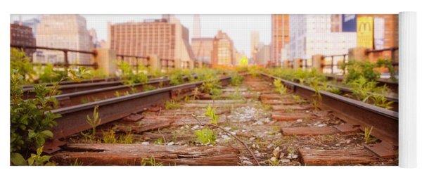 New York City - Abandoned Railroad Tracks Yoga Mat