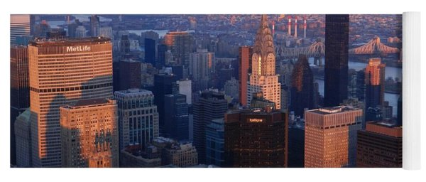New York City At Dusk Yoga Mat