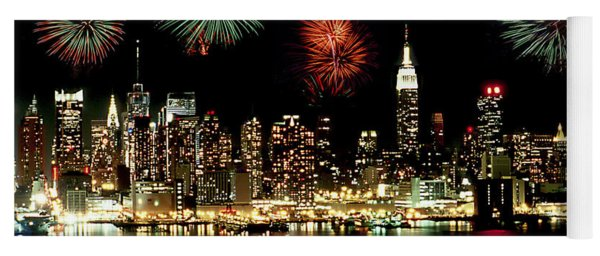 New York City Fourth Of July Yoga Mat