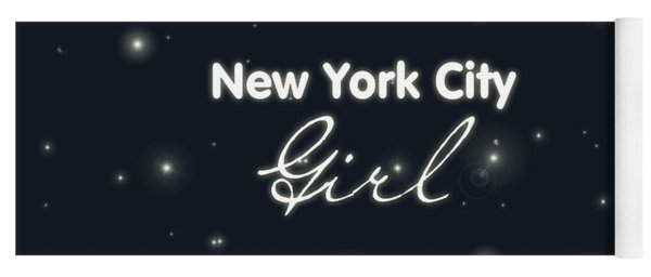 New York City Girl Yoga Mat