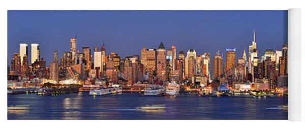 New York City Midtown Manhattan At Dusk Yoga Mat